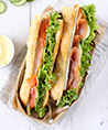 Club sandwich saumon